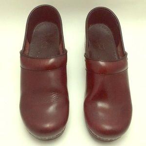 Dansko Clogs, Dark Red, size 39